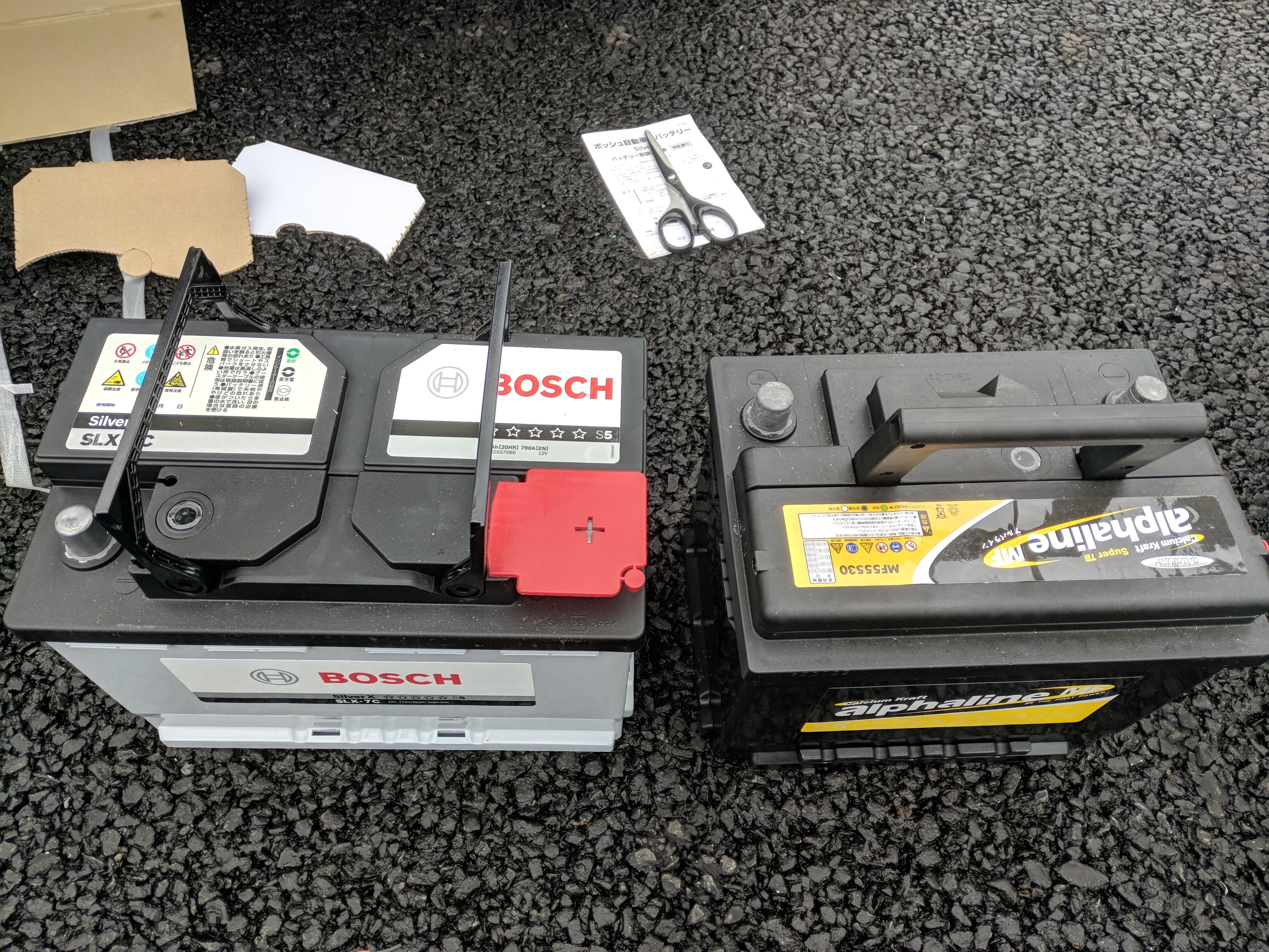 E90 バッテリー交換